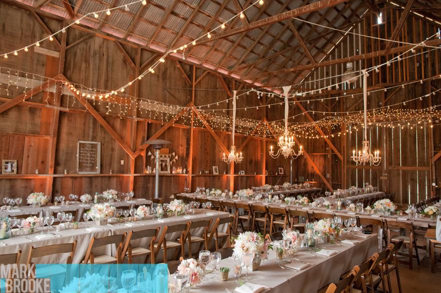 share this barn wedding lights